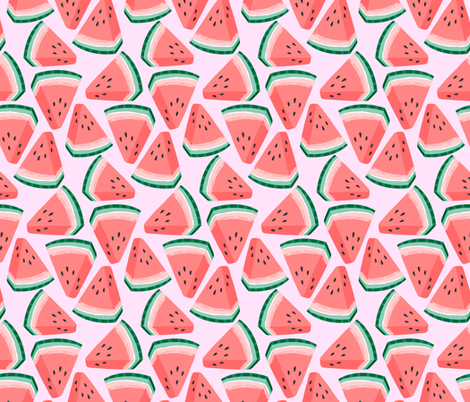 watermelon fabric by kristinnohe on Spoonflower - custom fabric