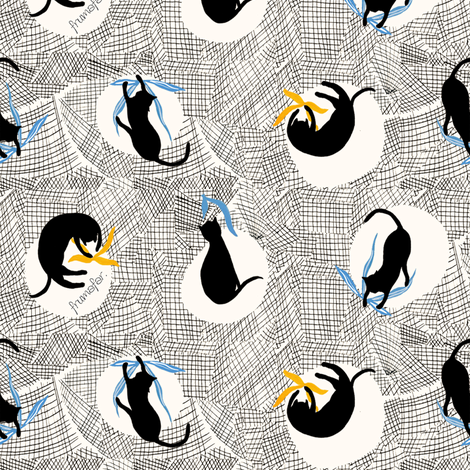 Dance with Cats fabric by frumafar on Spoonflower - custom fabric
