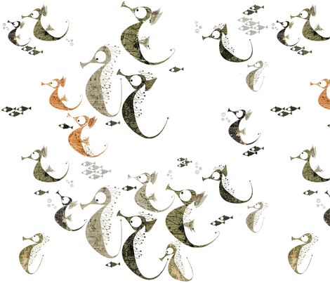 Wild Horse Stampede fabric by mulberry_tree on Spoonflower - custom fabric