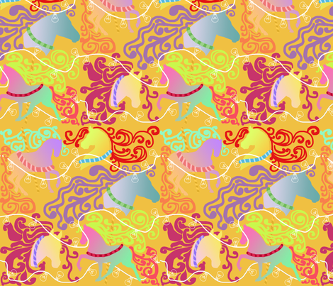 Carousel fabric by graceful on Spoonflower - custom fabric