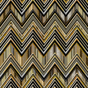 Burnished Chevron Zig Zag
