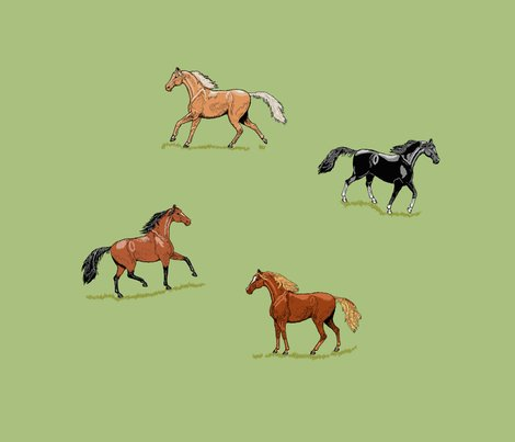 Fq_s_horses_ink_mint___grass_e_shop_preview