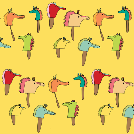 Stick Horses fabric by heartfullofbirds on Spoonflower - custom fabric