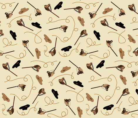 Horses, Hats,  fabric by hmooreart on Spoonflower - custom fabric