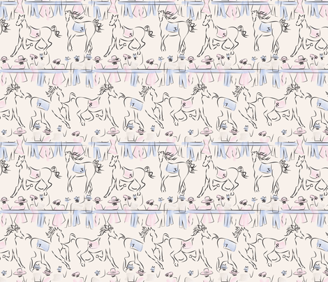 A Day at the Races Pastel  fabric by mag-o on Spoonflower - custom fabric