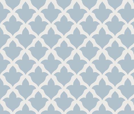 Fleur in Soft Blue fabric by sparrowsong on Spoonflower - custom fabric
