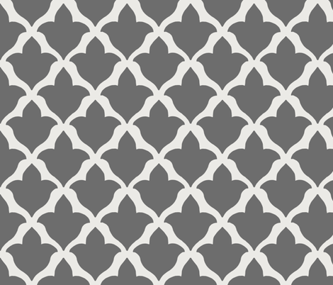 Fleur in Charcoal fabric by willowlanetextiles on Spoonflower - custom fabric