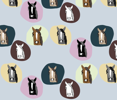 Horses 2 fabric by owlandchickadee on Spoonflower - custom fabric