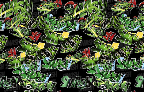 Big Green Guy Smash fabric by costumewrangler on Spoonflower - custom fabric