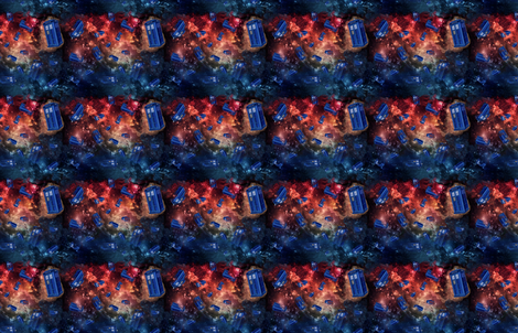 Police Boxes in Space fabric by costumewrangler on Spoonflower - custom fabric