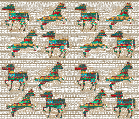 horses fabric by meghanwallace on Spoonflower - custom fabric