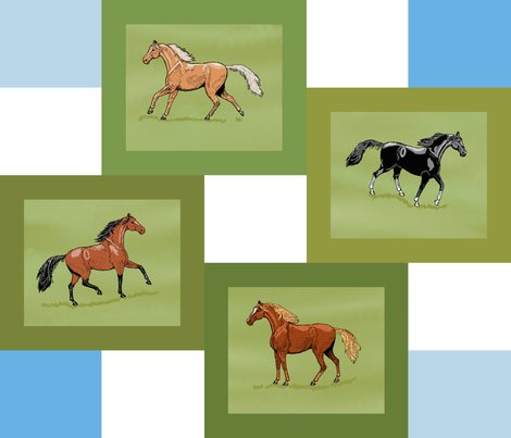 4_horse_patch_framed_blue_white_grass_4_fade_edit_shop_preview