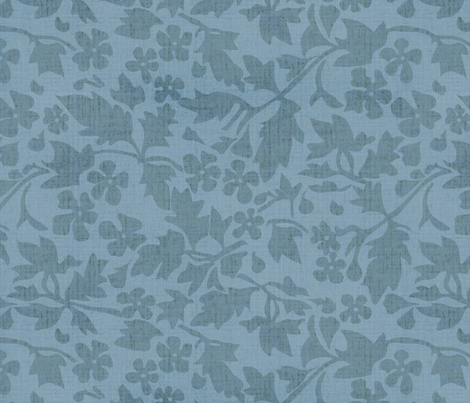 Silhouette Sky Blue fabric by kristopherk on Spoonflower - custom fabric