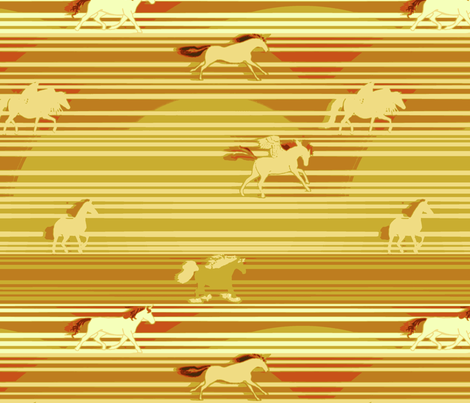 Every Little Pony Across the Desert fabric by bloomingwyldeiris on Spoonflower - custom fabric