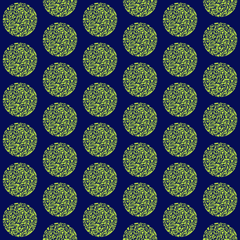 lime_green_on_aavy_circular abstract fabric by dw77 on Spoonflower - custom fabric