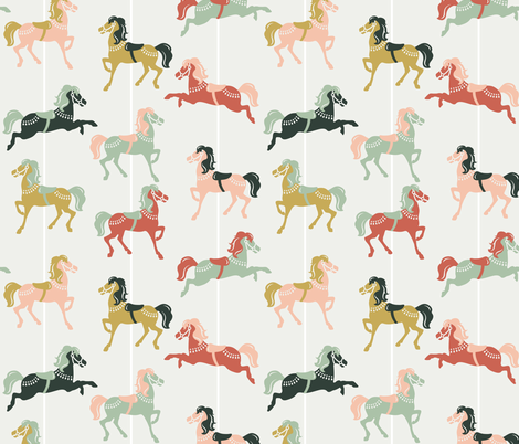 Merry Horses fabric by karisa on Spoonflower - custom fabric