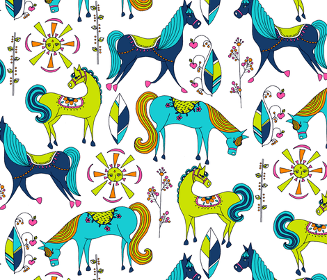 Ponyhof fabric by raebekah on Spoonflower - custom fabric