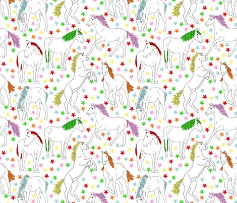 We Love Horses! fabric by marylina on Spoonflower - custom fabric