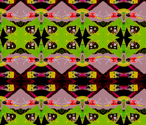 Battling Beetles fabric by robin_rice on Spoonflower - custom fabric