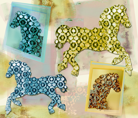 Paloma_Le_Sage_Horse_Fair fabric by palomalesagefabrics on Spoonflower - custom fabric