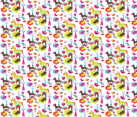 Happy horse fabric by rachelee_design on Spoonflower - custom fabric