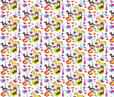 Happy horse fabric by rachelee_design on Spoonflower - custom fabric