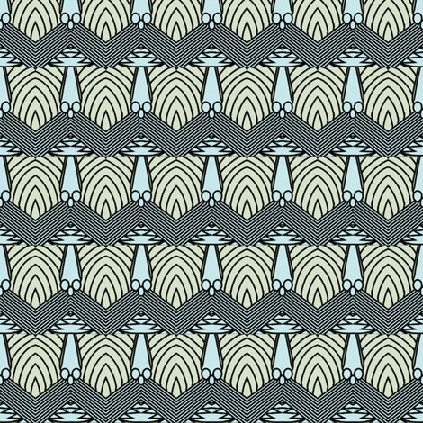 locust border fabric by sydama on Spoonflower - custom fabric