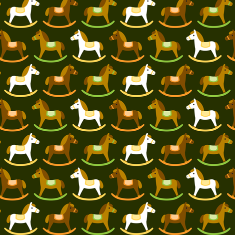 Rocking horses fabric by petitspixels on Spoonflower - custom fabric