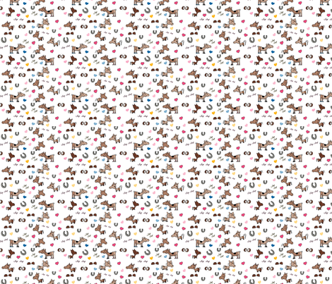 Clip Clop Horse Costumes fabric by g_tapper on Spoonflower - custom fabric