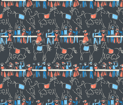 A Day at the Races fabric by mag-o on Spoonflower - custom fabric