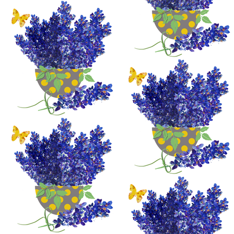 A bowl of Delphinium small fabric by karenharveycox on Spoonflower - custom fabric
