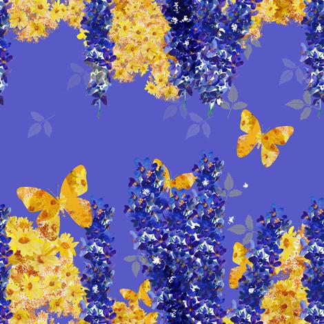 Delphinium and Daisies gardens_