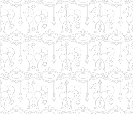 Julie's Carrousel Drawing fabric by juliesfabrics on Spoonflower - custom fabric