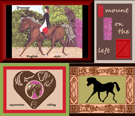 Dressage Horse Fabric by Kristie Hubler fabric by fabricatedframes on Spoonflower - custom fabric