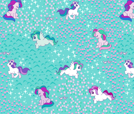 Magical Ponies fabric by aimee on Spoonflower - custom fabric