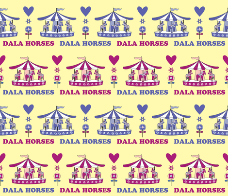 DALA_HORSES fabric by peppermintpatty on Spoonflower - custom fabric