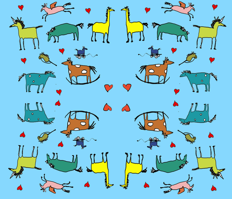 love_horsies fabric by superhelga on Spoonflower - custom fabric