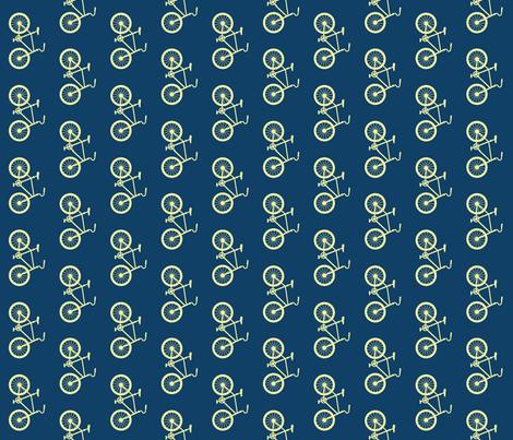 Joy Ride! bike navy cream fabric by sandeeroyalty on Spoonflower - custom fabric