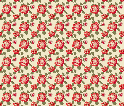 Mary Ann Kilrain red_rose fabric by ©_lana_gordon_rast_ on Spoonflower - custom fabric