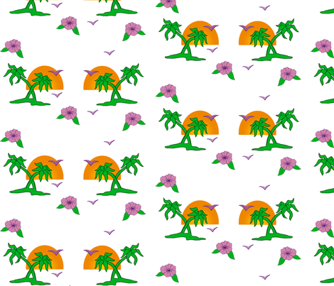 Banana trees fabric by slackbot on Spoonflower - custom fabric