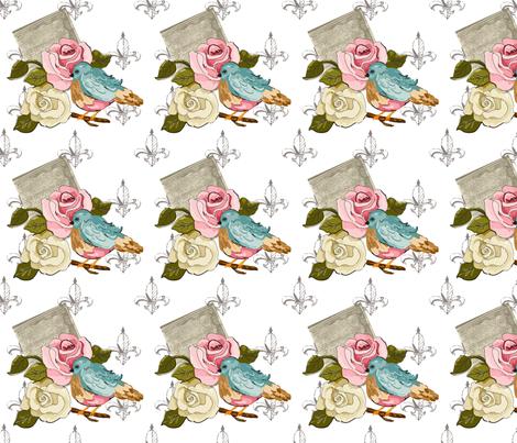 Mary_Ann_Kilrain Aqua fabric by lana_gordon_rast_ on Spoonflower - custom fabric