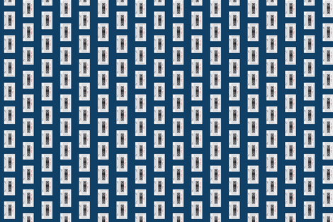 mix tape navy and white fabric by sandeeroyalty on Spoonflower - custom fabric