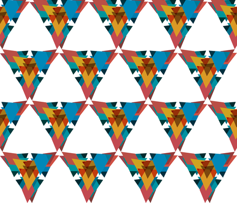 geometric crazy 4 fabric by pencilmein on Spoonflower - custom fabric