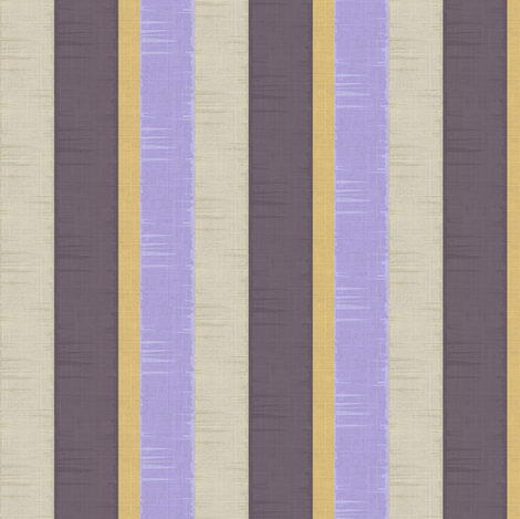 Ribbon Stripe - Dark plum, lavender, putty, mustard/gold