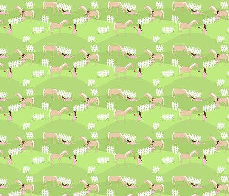 A Girl and Her Pony fabric by meg56003 on Spoonflower - custom fabric