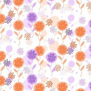 Spring Garden - Orange and Purple