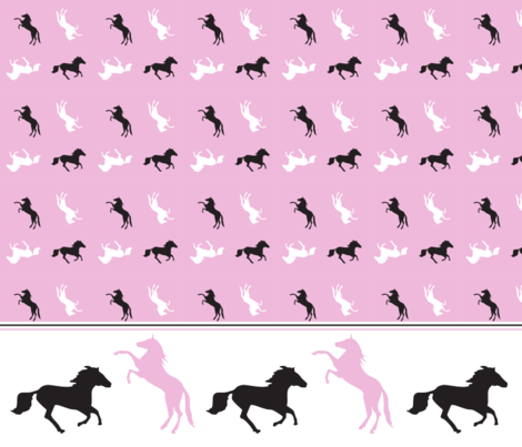 horsing_around fabric by it's_sew_me! on Spoonflower - custom fabric