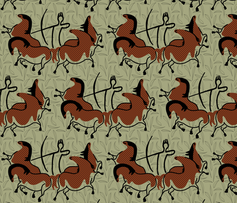 Lascaux by way of Leonardo fabric by mongiesama on Spoonflower - custom fabric