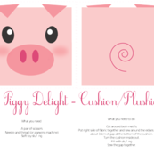 Piggy Delight - Plushie/Cushion