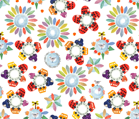 roundabout vacation fabric by scrummy on Spoonflower - custom fabric